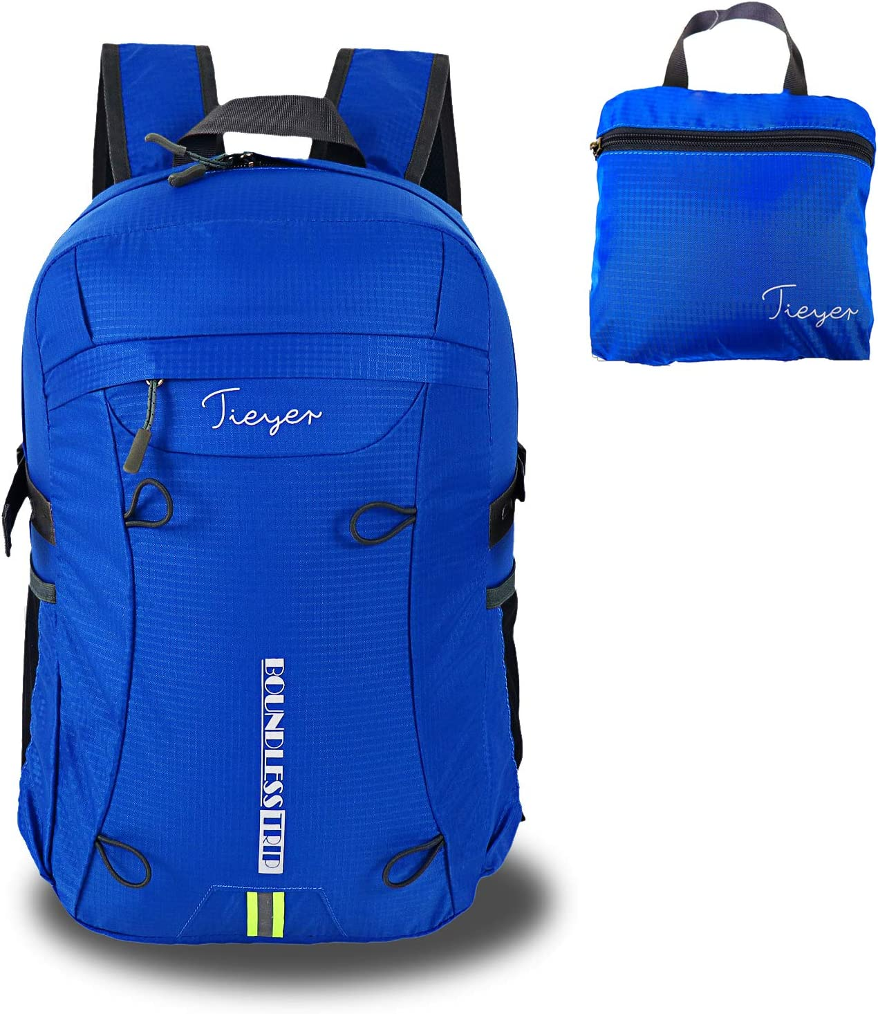 Tieyer Back to School Bags Durable Lightweight Packable Backpack Water Resistant Travel Hiking Daypack Ultralight Foldable Camping Outdoor Backpack Little Bag for Man Woman