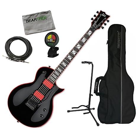 Esp lgh600blk Gary Holt pantalla Blk – Guitarra eléctrica w/gamuza de geartree, bolsa
