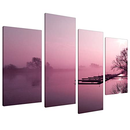 Large Plum Landscape Living Room Canvas Wall Art Prints Pictures ...