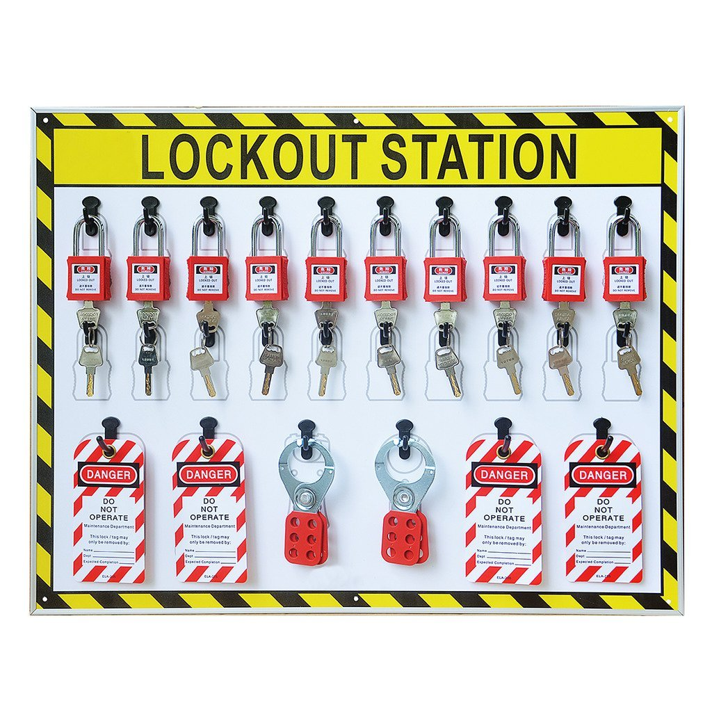 Wotefusi Industrial Security Lockout Station/Center for Safety Padlocks,Unfilled, Station Only by Wotefusi (Image #2)
