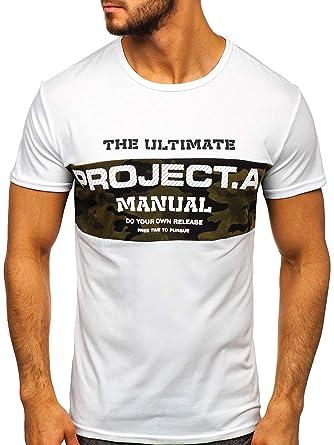 BOLF Hombre Camiseta de Manga Corta Escote Redondo Diseño ...