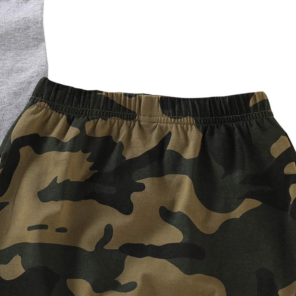 Shiningbaby Sommer Baby Jungen Trainingsanzug Camouflage Shorts MR stehlen Sie Ihre M/ädchen Weste Tops Casual Outfits 2 St/ück Kleidung Sets