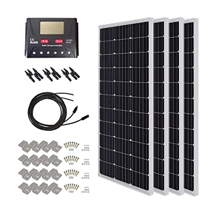 Amazon.com: HQST, kit de paneles solares (400 vatios/12 ...