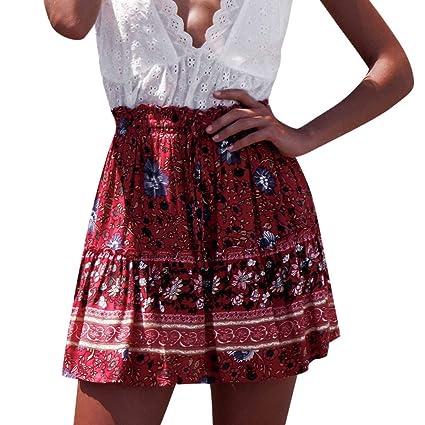 Falda plisada para mujer de cintura alta, de estilo dulce y ...