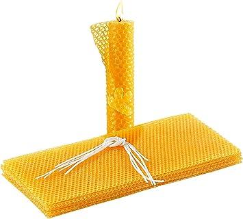 Your Design Bienenwachsplatten 6 Bienenwachs Platten Zum Kerzen Gestalten 300 X 133 Mm Bienenwachskerzen