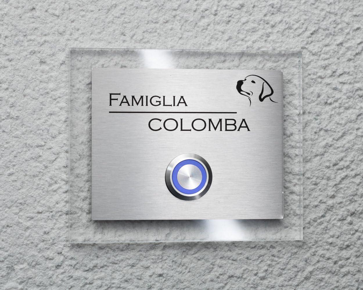 Campanello Segno di Nome Piastra Porta Autoadesivo 50-70mm Misura//Colore //