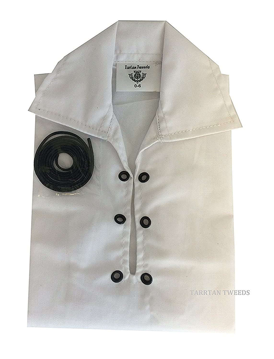 Baby Boy Jacobite Ghillie Shirt White Ages 0 - 24 Months