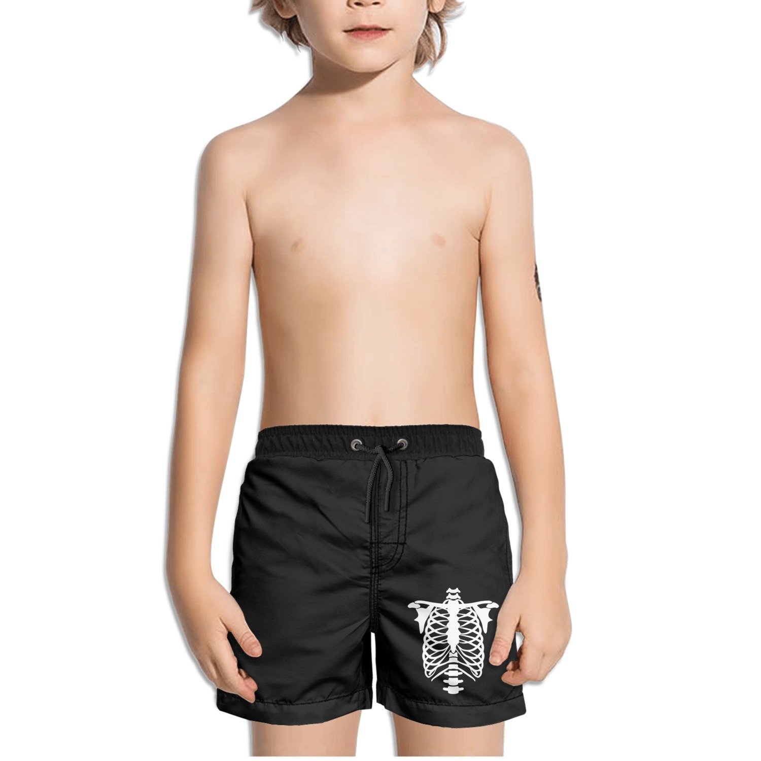 Ouxioaz Boys Swim Trunk Skeleton Torso Beach Board Shorts