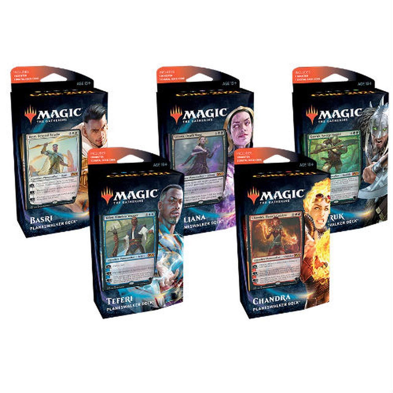 MTG Magic the Gathering Core Set 2021 M21 - All 5 Planeswalker Decks!