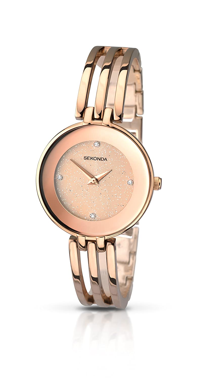 Sekonda Women\'s Quartz Watch with Gold Dial Analogue Display and ...