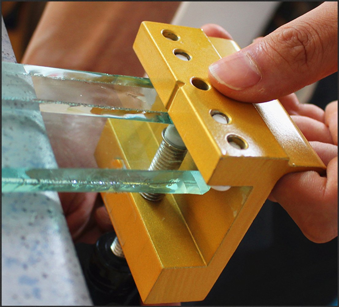 HEAVY DUTYGrip Tipped Professional Window Glass Cutter Lubricated Oil Feed Craft