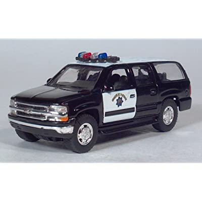 Welly 2001 Chevy Suburban Highway Patrol Police / Pull Back Toy Car: Toys & Games