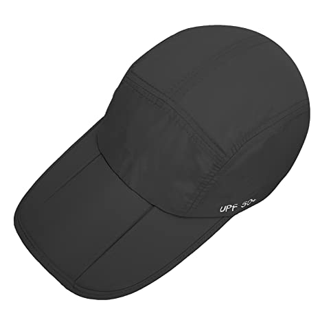 3604cf258d1 Unisex Foldable UPF 50+ Quick Dry Baseball Cap with Long Bill Portable Sun  Hats  Amazon.in  Clothing   Accessories