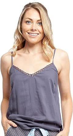 Cyberjammies 4398 Women's Olivia Grey Modal Cami Pyjama Top