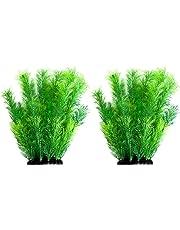 Bright 4 Pack Aquarium Decorations Plants Green Artificial Plastic Water Plant Fo Street Price Pet Supplies