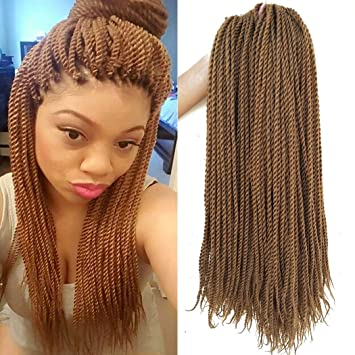 Amazon.com : 18 Inch 8Packs Senegalese Twist Hair Crochet Braids ...