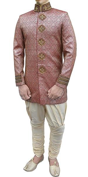 Amazon.com: INMONARCH para hombre exquisito novio rosa Indo ...