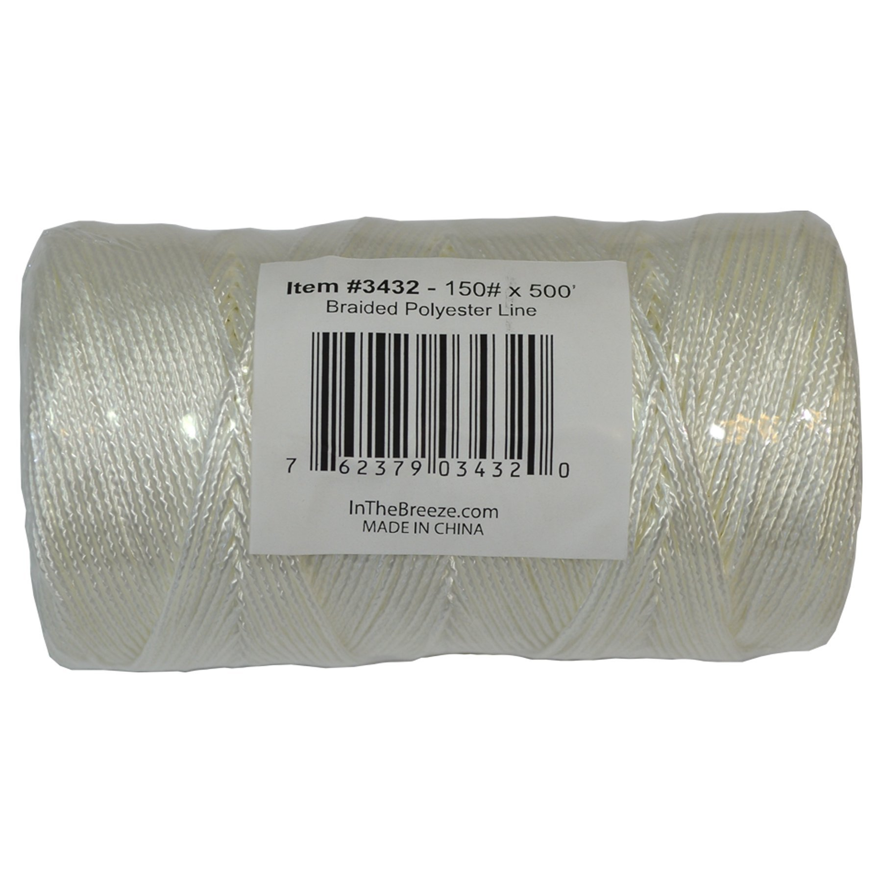 In the Breeze 3432 Braided Polyester Bulk Kite Line, 150 lb. x 500', White by In the Breeze