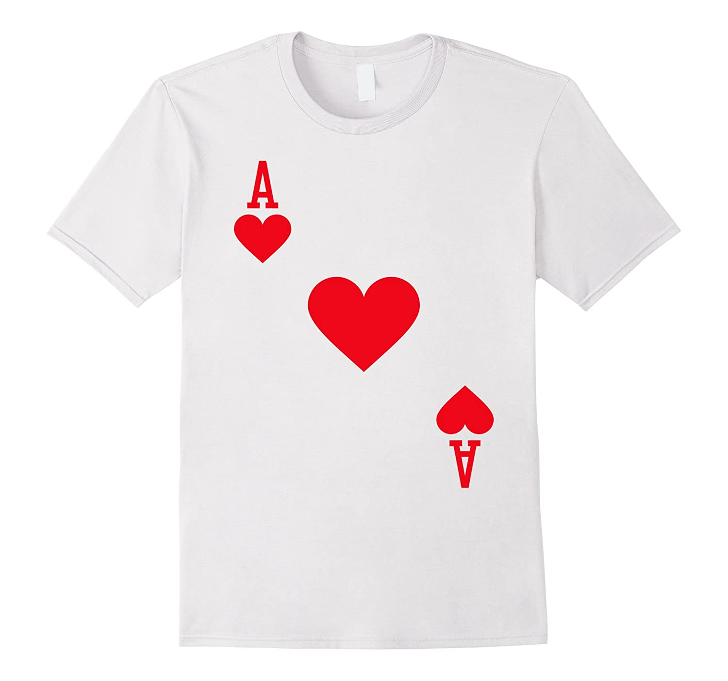 Ace of Hearts Costume T-Shirt Halloween Deck of Cards-ANZ