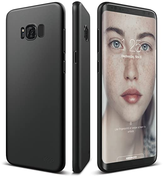 timeless design 1fbf1 0730c elago Galaxy S8 Plus Case [Origin][Black] - [Device Fitting  Tested][Minimalistic][Scratch Protection Only][True Fit] - for Galaxy S8  Plus