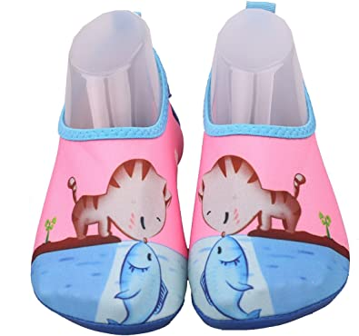 ADAHOP Kids Toddlers Water Shoes Quick-Dry Aqua Yoga Socks Beach Shoes for Sporting Swimming Surfing