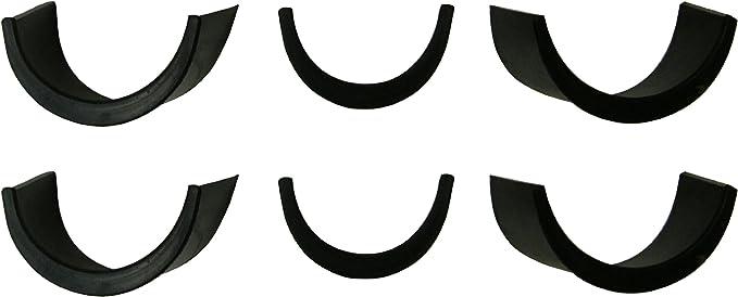"6 Pool Table Pocket Liners 4/"" New Rubber Billiard  4 corner /& 2 side #8FR"