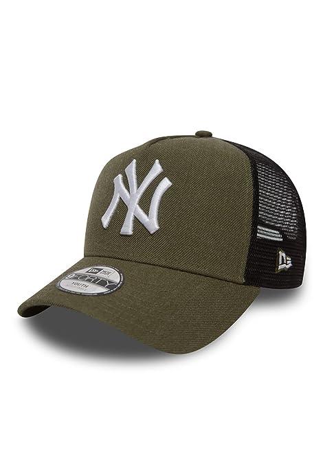 New Era Adjustable Trucker Cap HEATHER NY Yankees oliv