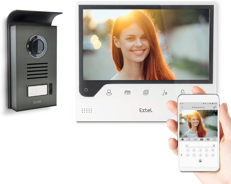 Extel Connect - Videoportero con Gran Pantalla (7 Pulgadas) y Conectado a tu Smartphone Android o Apple