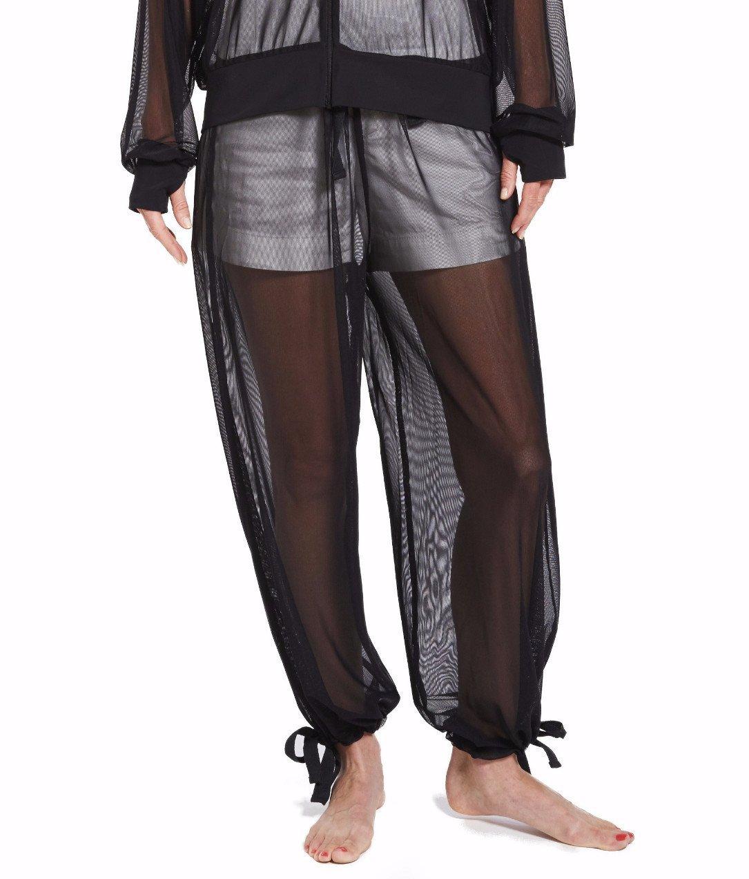 LIL&TESS Resort Mesh Ladies Track Pant (XS, Black)