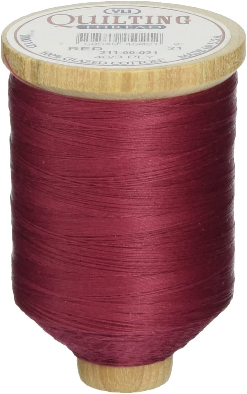 1000 yd YLI 21100-004 3-Ply T-40 Cotton Hand Quilting Thread Rust by YLI