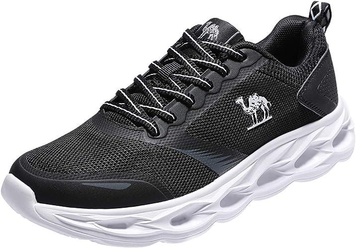 CAMEL CROWN Zapatillas Deportivas de Mujer Running Sneakers Zapatos para Correr Casual Yoga Calzado Deportivo de Exterior Montaña Gimnasio Atletismo Cómodo Transpirables Negro Gris Rosa 37-42: Amazon.es: Zapatos y complementos