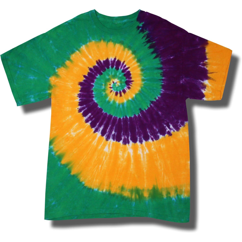 c6685b5559157 Youth Tie Dye Mania Mardi Gras Swirl Tie-Dye Short Sleeve T-Shirt