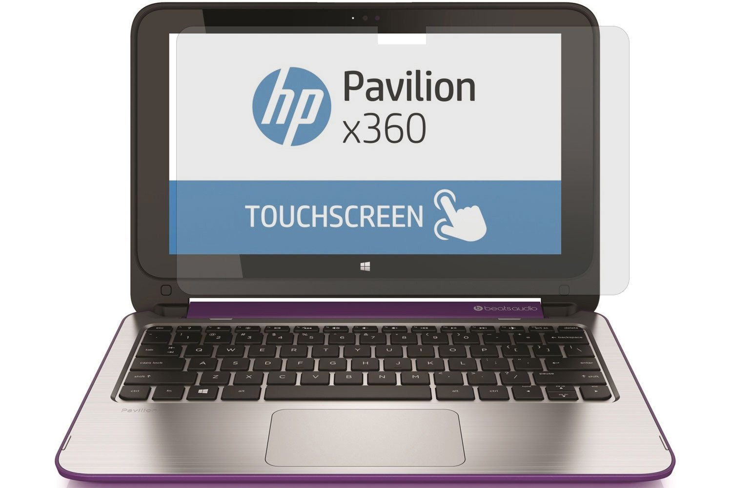 PcProfessional Screen Protector for HP Pavilion x360 2-in-1 11.6'' Touch Screen High Clarity Anti Scratch filter radiation+ microfiber cloth