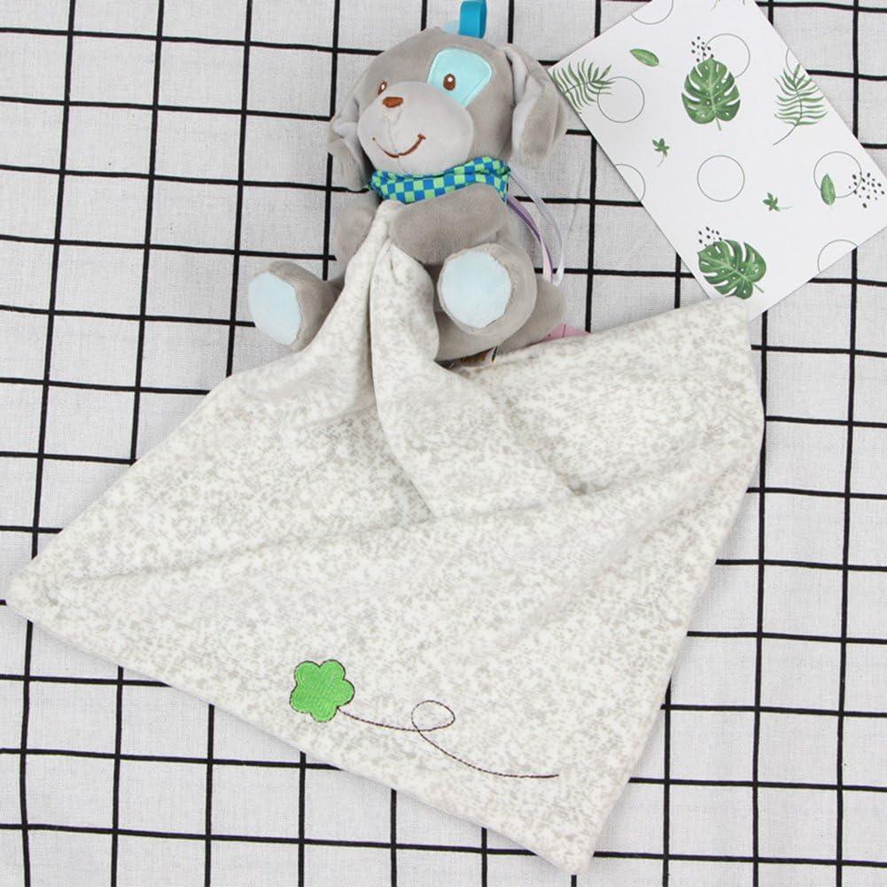 chien gris couette Couverture Sucette Couverture de s/écurit/é INCHANT Couverture de s/écurit/é belle 30 x 29cm peluche b/éb/é doudou pour les filles ou les gar/çons