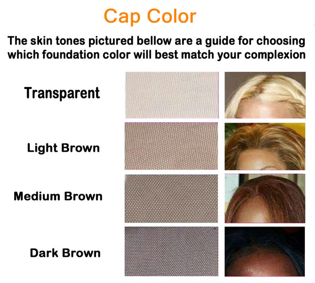 Creamily Professional Swiss Lace Wig Caps for Making Wig with Adjustable Straps Medium Size 22.5inch (Full Lace Cap, Light Brown Color) by Creamily (Image #6)