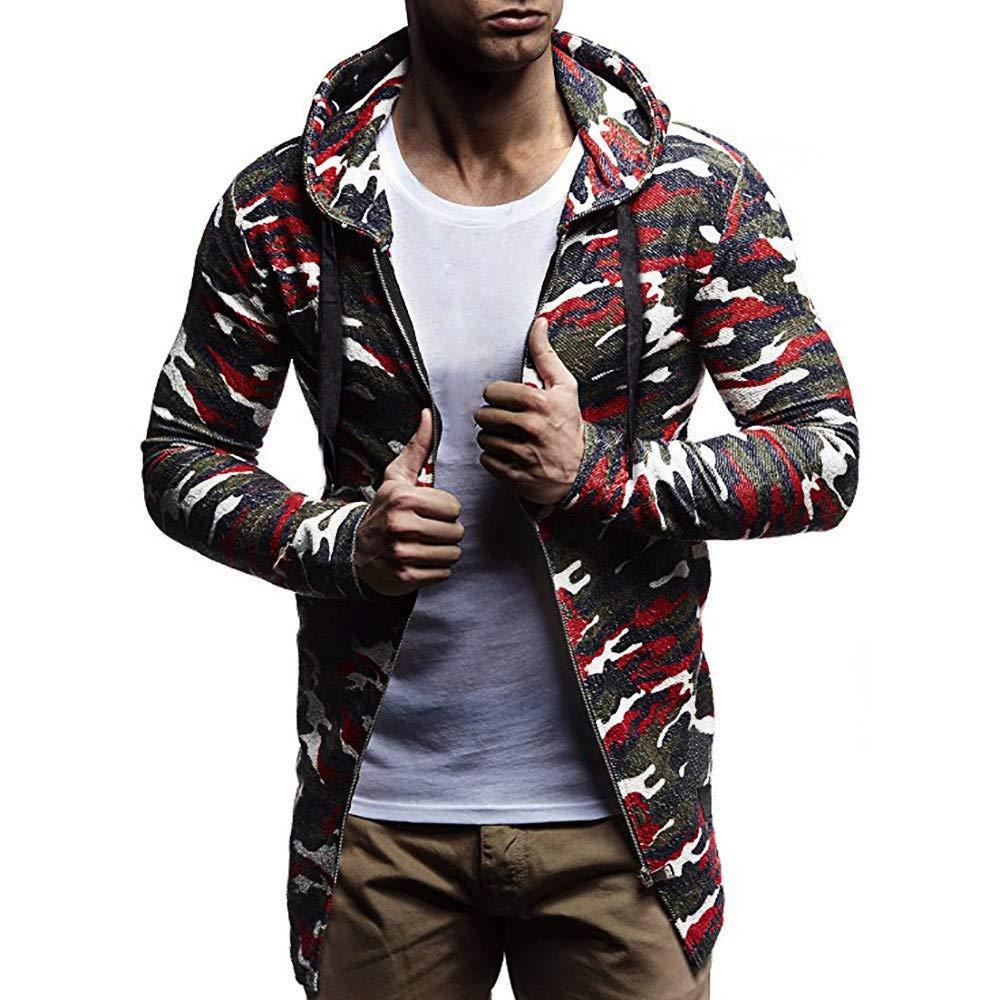 Rambling-Men's Outwear OUTERWEAR メンズ B07K8QX5HF レッド Large