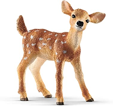 Schleich White Tail Deer /& cerbiatto in plastica giocattolo Wild Zoo Woodland Animal nuovo