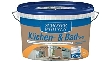 SCHÖNER WOHNEN FARBE Küchen- & Badfarbe, macchiato 2 l, macchiato ...