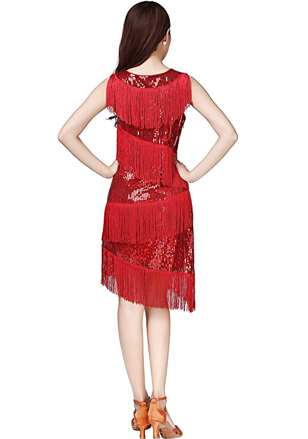 Amazon.com: Whitewed Fringe Great Gatsby Themed Party Prom Dresses Costumes Clothing Outfits: Clothing