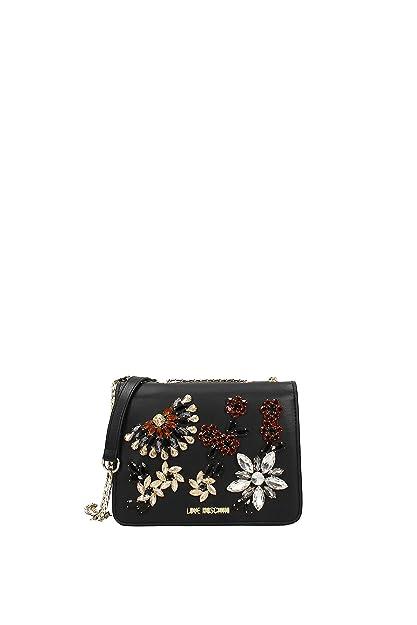 8b19ae7ef88 Ariel Black Jewel Embellished Cross-Body Bag Black Leather  Amazon.co.uk   Clothing