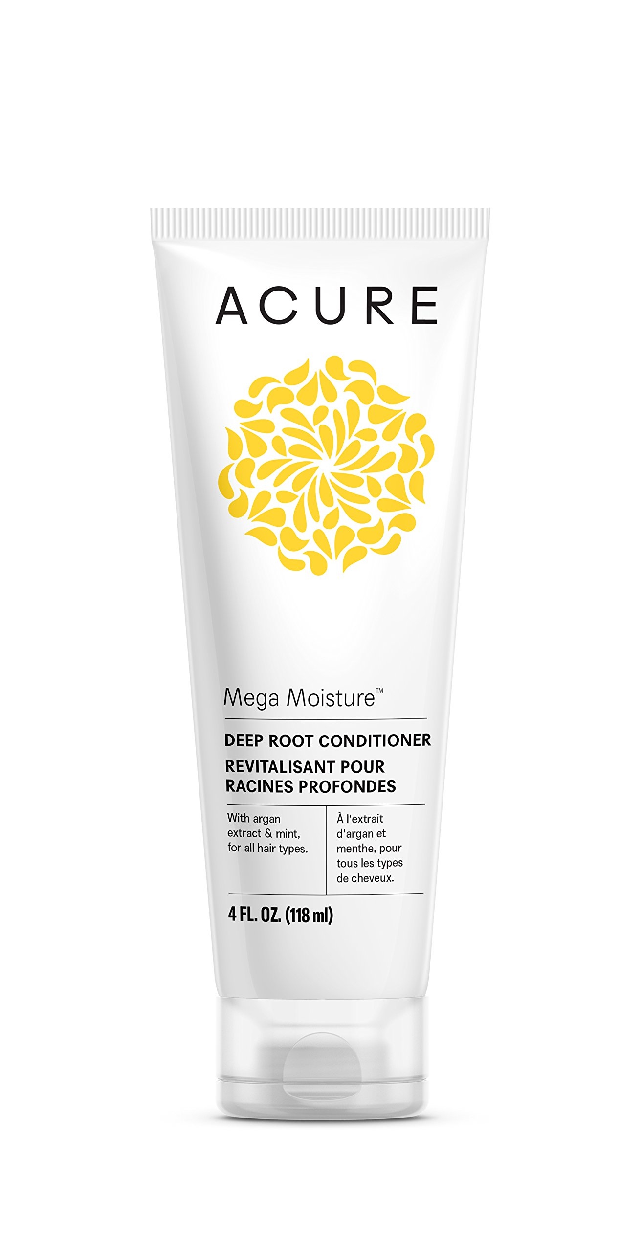 Acure Mega Moisture Deep Root Conditioner, 4 Fluid Ounces (Packaging May Vary) by ACURQ