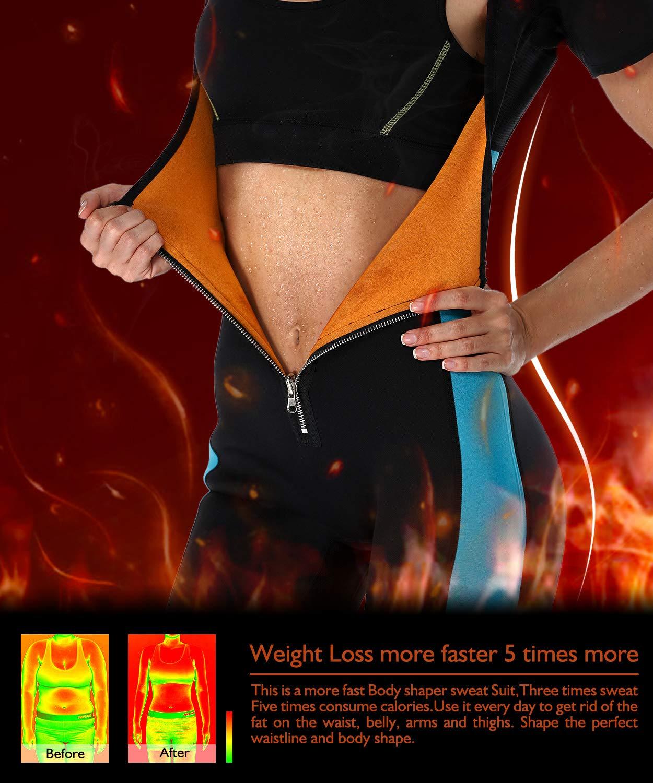 NBVIC Women Sauna Sweat Suits Slimming Waist Trainer Weight Loss Neoprene Vest Bodysuit Workout Biking Cycling Jersey