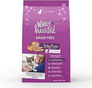 WholeHearted Grain Free Turkey Formula Dry Cat Food, 5 lbs.