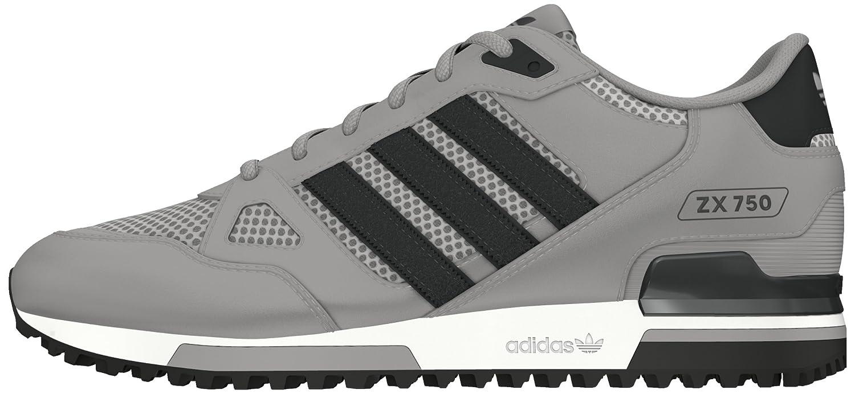 adidas Zx 750, Chaussures de Sport Mixte Adulte gris Gris