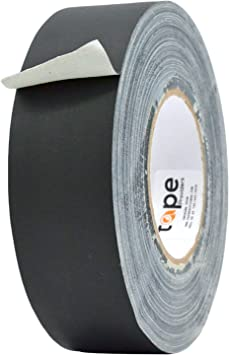 2 in Better Than Duct Tape Available in Multiple Colors MAT Gaffer Tape Black Low Gloss Finish Film Non Reflective x 60 Yards Residue Free