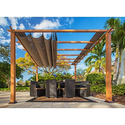 Paragon-Outdoor Catalina Metal 10 x 10 ft. Pergola (assembly required) - Amazon.com : Paragon-Outdoor Catalina Metal 10 X 10 Ft. Pergola