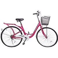 Gamma Butterfly Bike, 26 Inch - BIC50, Pink and White,Ready To Ride 100% Assembled
