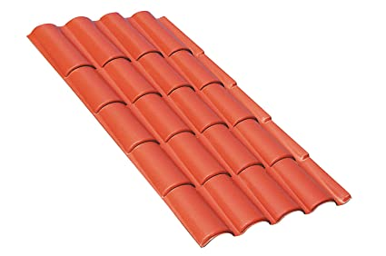 tejas Techo placas de cobertura termoplastiche de un acabado Natural, similar AL De Una cobertura