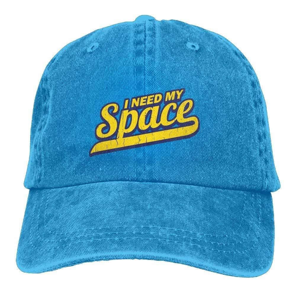 Unisex Washed I Need My Space Classic Denim Baseball Cap Adjustable Trucker Hat JTRVW Cowboy Hats