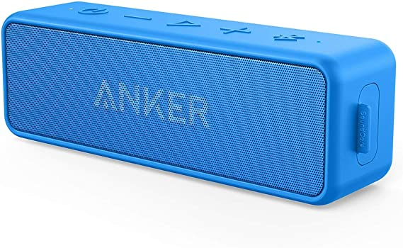 Amazon Com Anker Soundcore 2 12w Portable Wireless Bluetooth Speaker Better Bass 24 Hour Playtime 66ft Bluetooth Range Ipx7 Water Resistance Built In Mic Dual Driver Speaker For Beach Travel Party Blue Home Audio